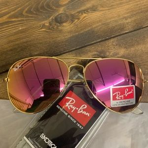 Accessories - Few left 58mm Ray Ban Purple Lens Gold Frame